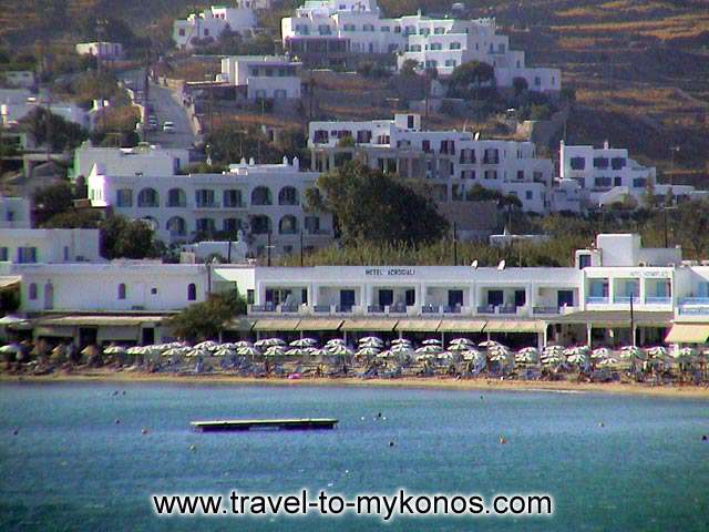 PLATYS CIALOS BEACH - A view of the tourist resort Platys Gialos.