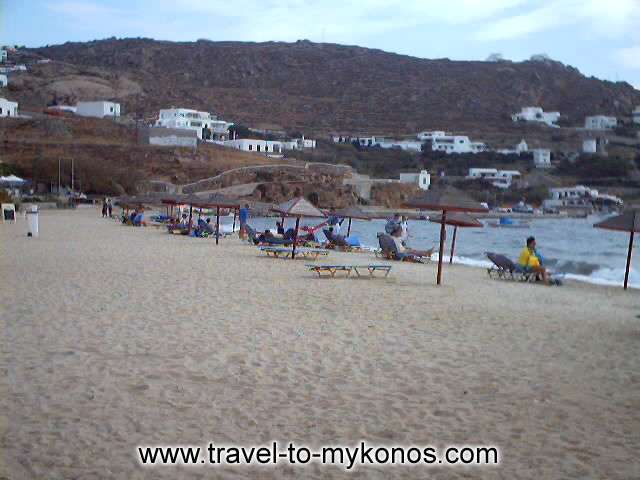 ORNOS BEACH - The wonderful beach of Ornos is very popular.