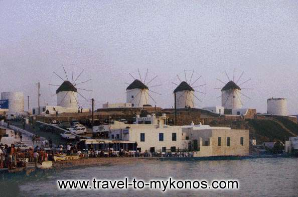 WINDMILLS - The windmills constitute a part of the history of Mykonos.