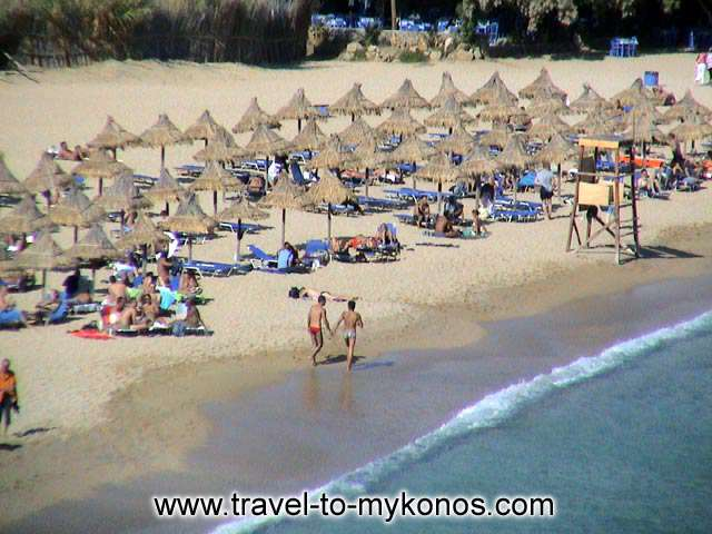 SUPER PARADISE BEACH - It is a well organished beach. There exist the opportunity for sea sports.