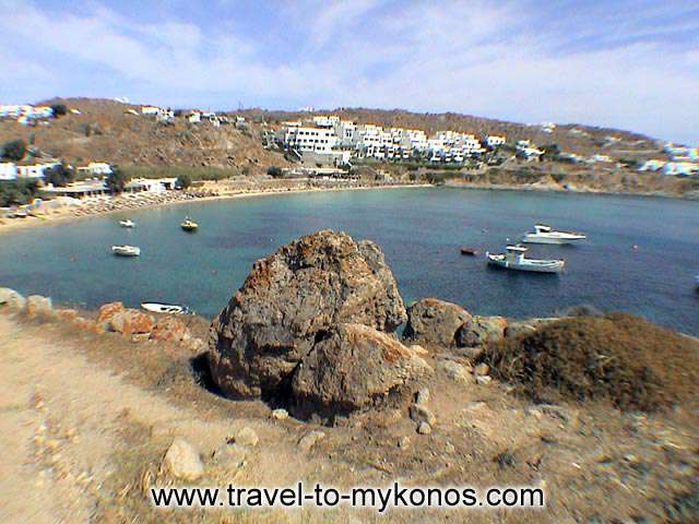 PSAROU BEACH - Psarou beach is found at a distance of 2 km  at the south-west side of Chora.