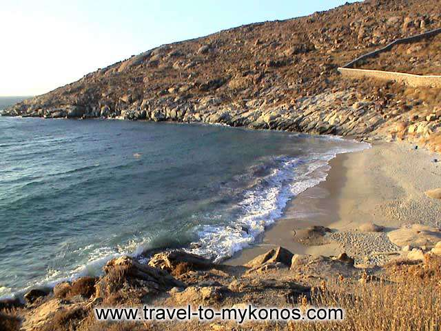 KAPARI BEACH - The rocks are protecting the little beach and make her to seem more beautiful.
