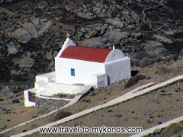 ANO MERA - A traditional architecture chapel which is built in a deserted place near Ano Mera village.