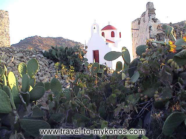PALEOKASTRO - The traditional architecture of Cyclades characterized the monastery.