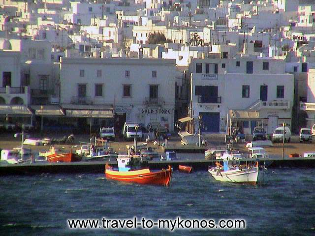 MYKONOS GIALOS - Gialos: a picturesque spot of Chora.
