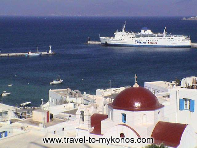 MYKONOS PORT - The port of Mykonos, the most cosmopolitan island of Cyclades.