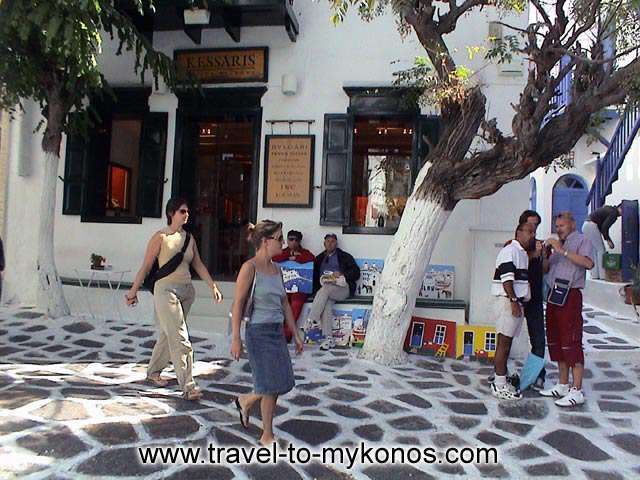 MYKONOS CHORA - Walk around to the roads of the city and have a look at the tourist shops.