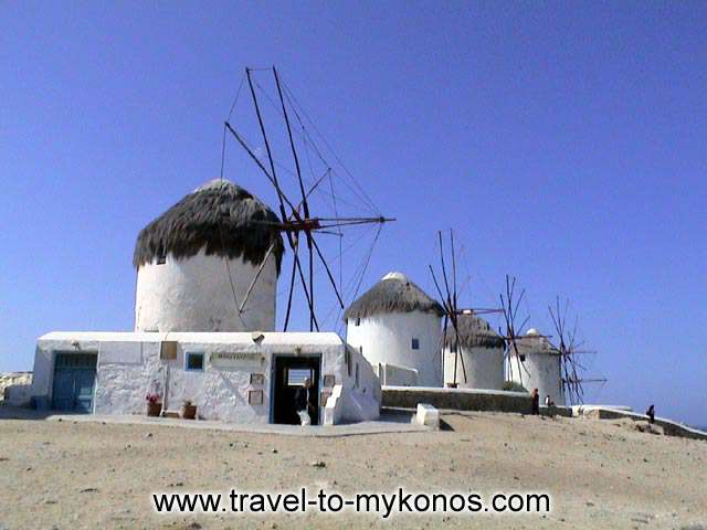 In past has been prohibited the construction of houses near in the windmills because it impeded the smooth operation of them. MYKONOS PHOTO GALLERY - MYKONOS WINDMILLS