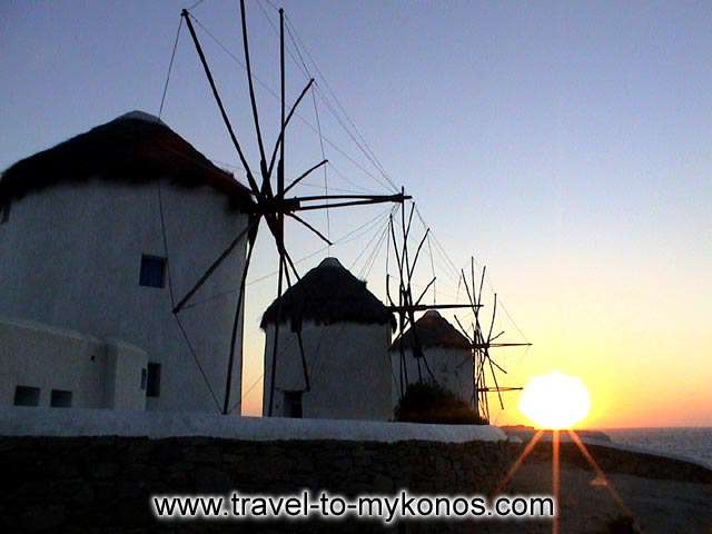 WINDMILLS SUNSET - A terrific view of the sunset and the windmills.