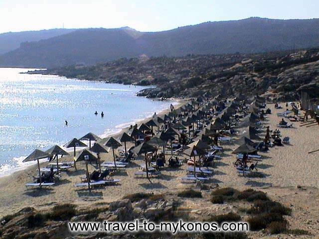 ELIA BEACH - Elia is a very popular beach that is found in distance 8 Km from Chora.