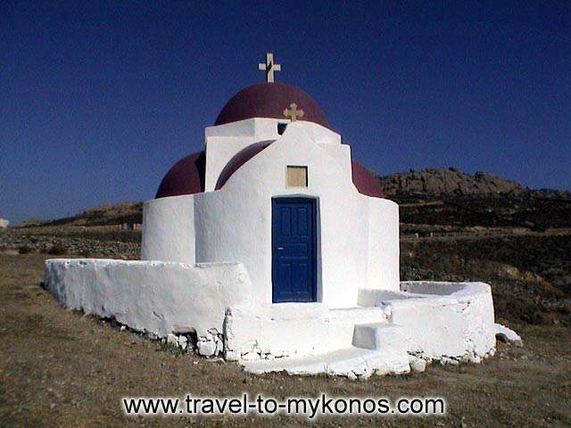 CHURCH OF PANAGIA - The white colour of the church of Panagia gives to the area a sweet atmosphere.