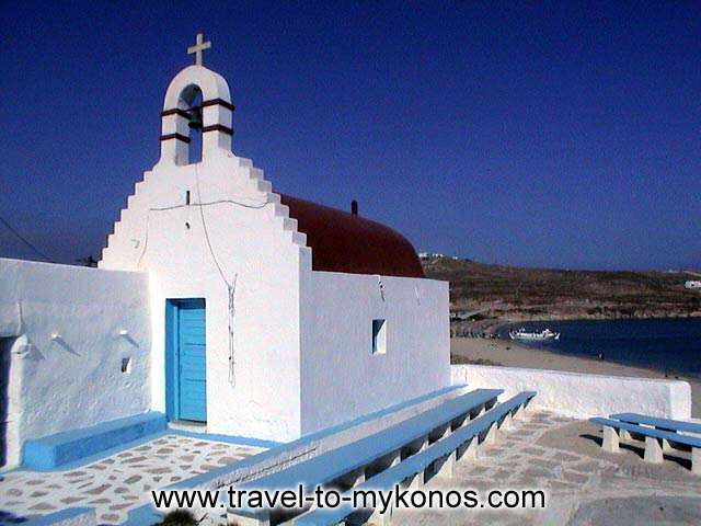 A picturesque chapel which is built near to Kalo Livadi beach. MYKONOS PHOTO GALLERY - KALO LIVADI