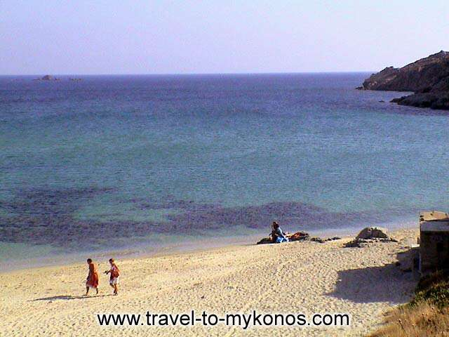 A view of the beautyful beach. MYKONOS PHOTO GALLERY - KALO LIVADI BEACH