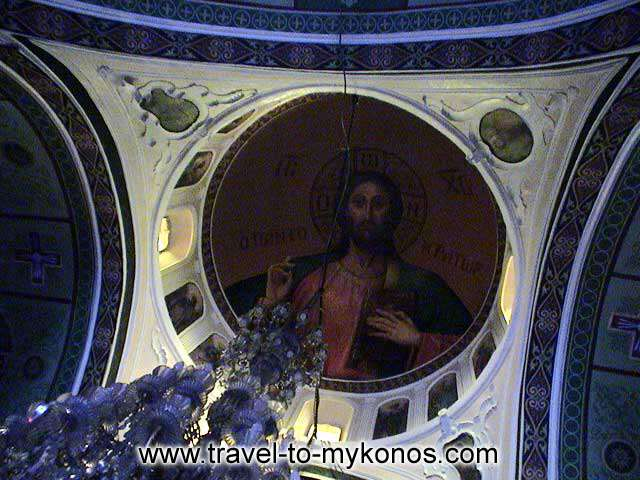 MONI TOURLIANIS - The mural that adorns the roof of church.