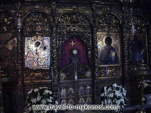 MONI TOURLIANIS - The marvellous carven chancel screen of the church.