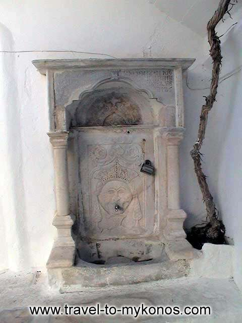 MONI TOURLIANIS - The marble tap that is found to the precinct of the monastery.