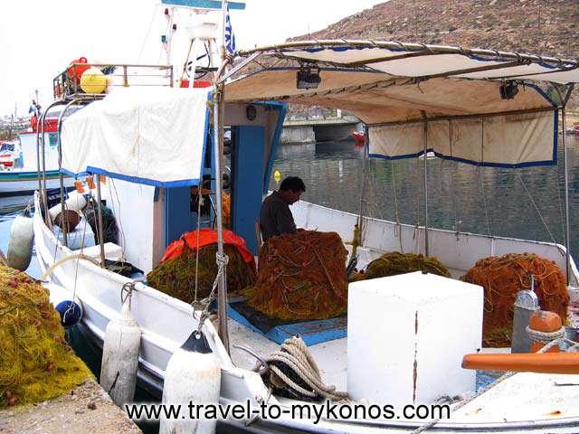 FISHING BOAT - A fishing boat in Tourlos fishing harbor
