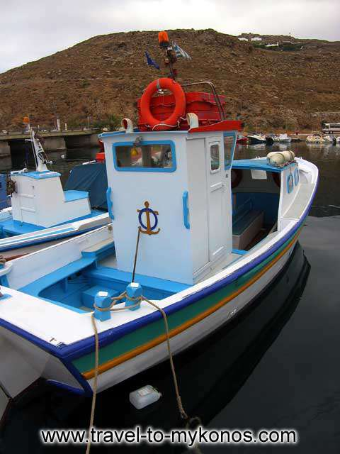 FISHING BOAT - One of the many fishing boats in Tourlos