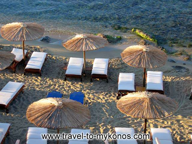 UMBRELLAS - Part of Platis Gialos beach