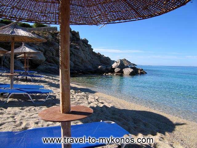 LEFT EDGE - The left part of Platis Gialos beach