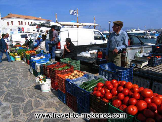GIALOS - View of the morning market in Gialos.