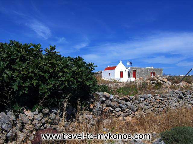 CHURCH - A small church on the way to Agia Anna beach
