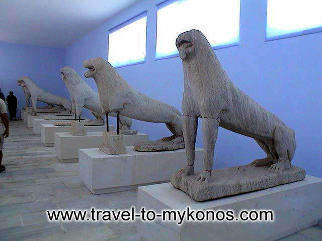 Delos lions - The famous lions at the Archaeological museum of Delos