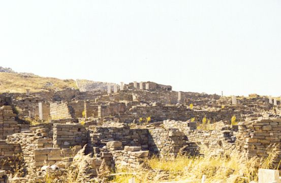 DELOS - A view of the archaeological site.