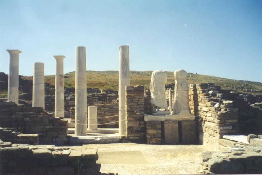 DELOS - Delos, according the mythology is the island that god Appolonas and his twin sister Artemis were born.