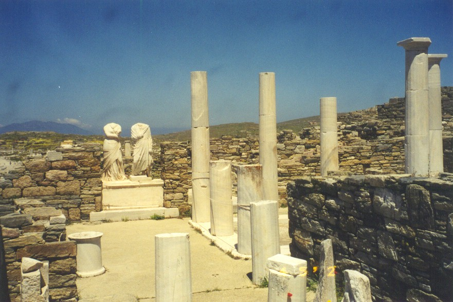 DELOS STATUES - The excavations have brought in the light a lot of important discoveries.