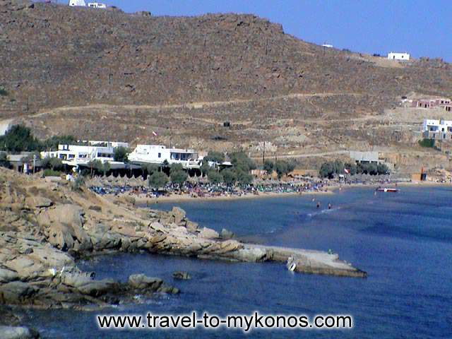 PARADISE BEACH - Paradise beach is found in the southern side of Mykonos and is the most famous of  the island.