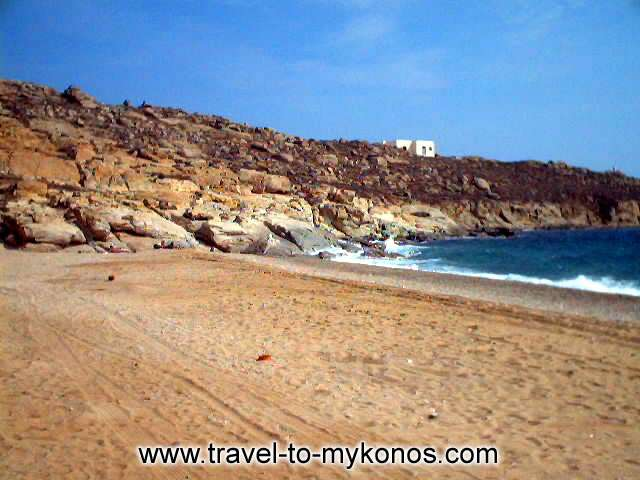LIA BEACH - In the east side of Mykonos is found the quiet beach of Lia.