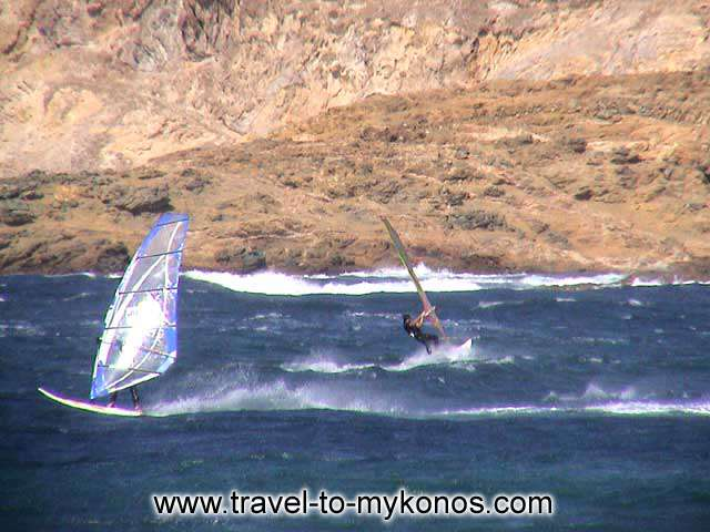 WINDSURFING - Ftelia is considered ideal for windsurfing, because of the winds and the marine currents.