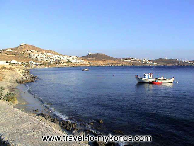 AGIOS IOANNIS BEACH - The coastal settlement of Agios Ioannis is found in the south-western side of island in distance of 5 km from Chora.