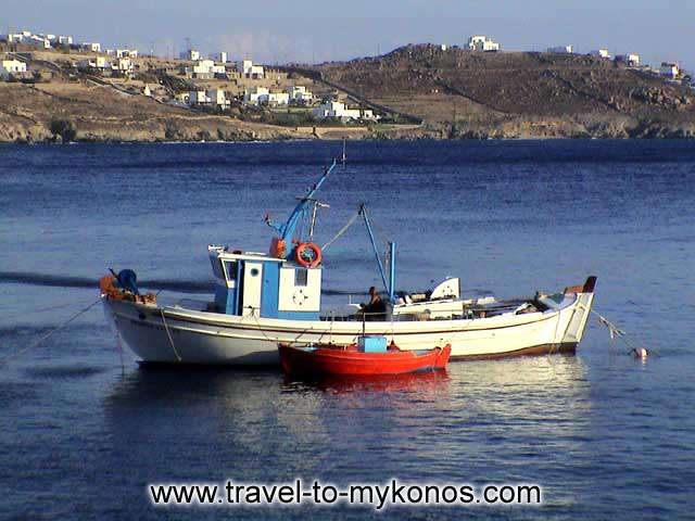 In a few hour the fishing boat will come out in Aegean Sea... MYKONOS PHOTO GALLERY - AGIOS IOANNIS BEACH