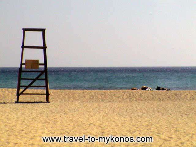 Enjoy the beautyful sand and the clean waters at Agrari beach. MYKONOS PHOTO GALLERY - AGRARI BEACH