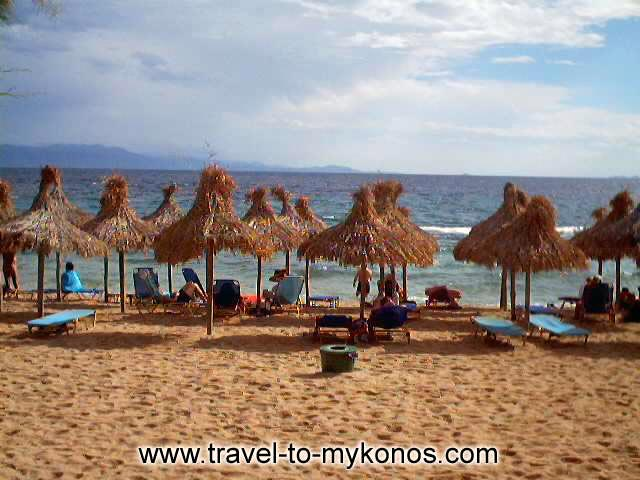 PARADISE BEACH - There are many tourists that visit Mykonos because of the fame of Paradise beach.