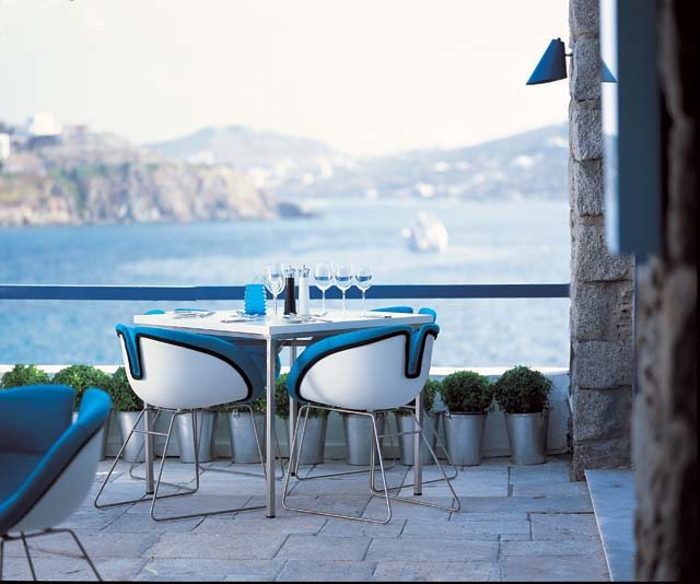 The first sense to awake appetite is sight and the best place to sense this is at Mykonos Theoxenia hotel. CLICK TO ENLARGE