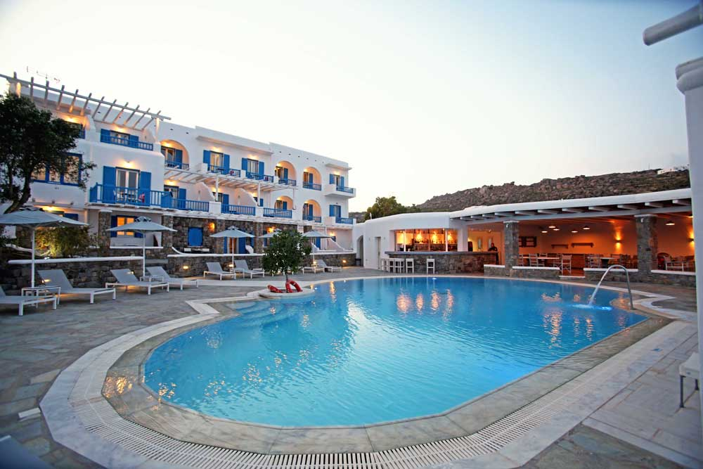ARGO HOTEL IN  Platis Gialos Mykonos Cyclades islands