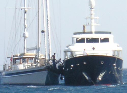 The superyacht pictured here in Mykonos sails at anchor badly anyway, but when its skipper didn&#8217;t put out enough chain in 35 knots of wind on Sunday, she lost control altogether. <br><br>