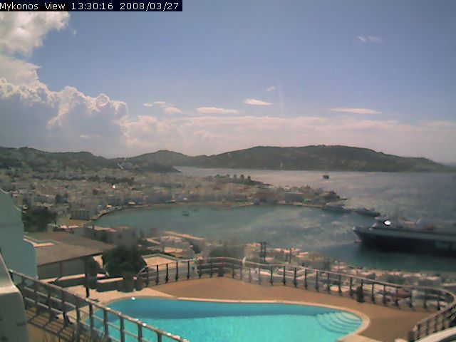 Mykonos View  Gialos webcam